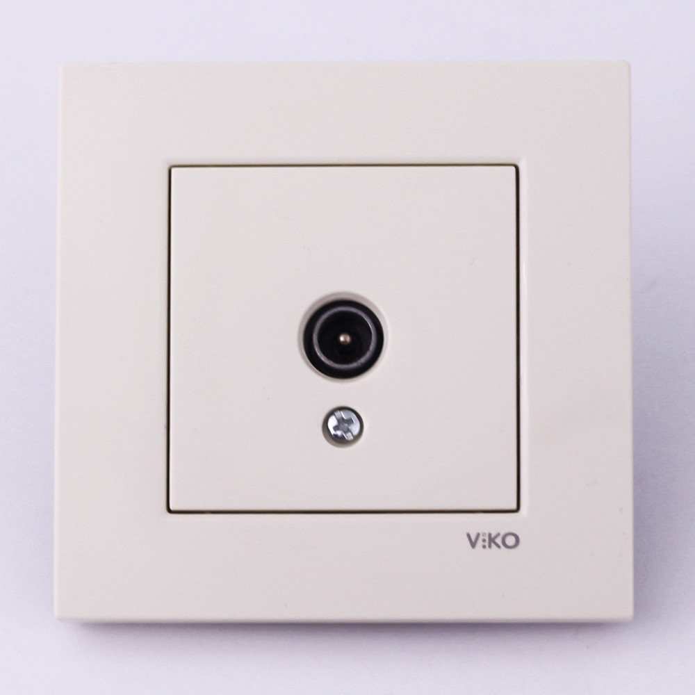 Розетка антенная VI-KO Karre скрытой установки (кремовая)