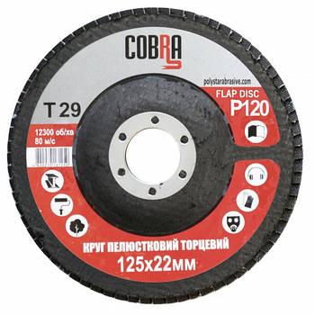 Круг лепестковый торцевой КЛТ COBRA Т29, 125х22 мм, P120