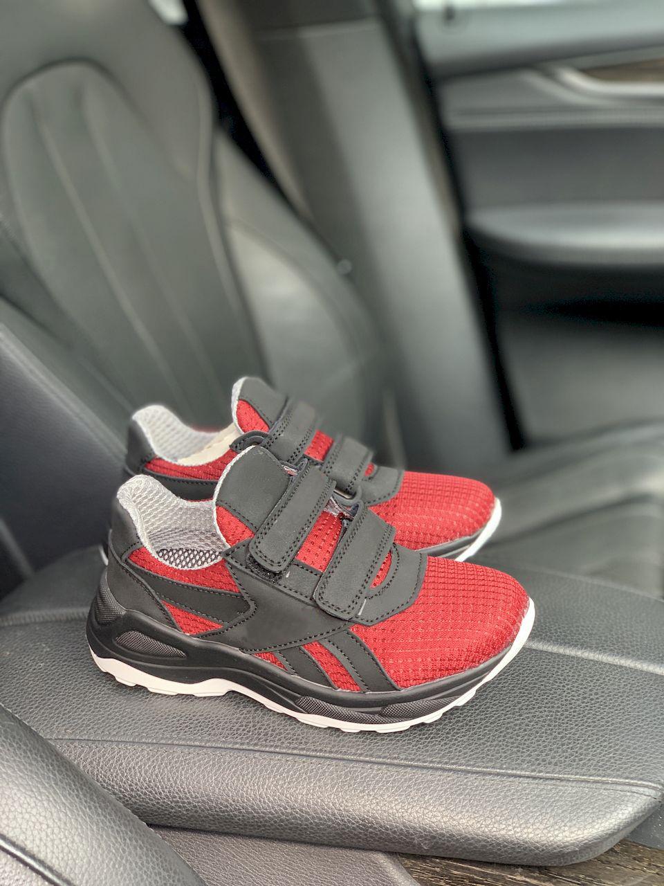Дитячі кросівки текстильні літні червоні-чорні CrosSAV 12L Сітка год