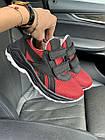 Дитячі кросівки текстильні літні червоні-чорні CrosSAV 12L Сітка год, фото 2