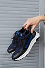 Підліткові кросівки шкіряні весна/осінь сині Monster ХАН, фото 4