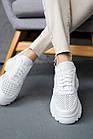 Жіночі кросівки шкіряні літні білі Yuves 3003 Перфоров, фото 3