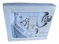 Полотенце для купания Maison Dor Lamite Hooded Robe Blue хлопок 76*76 см голубое