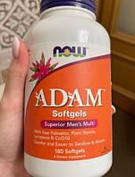 Витамины для мужчин NOW Adam 180 гелевых капсул Минеральный комплекс для спортсменов