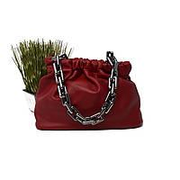 Модна жіноча сумка через плече штучна шкіра бордова Арт.80813 (Китай)