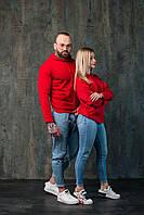 Худи унисекс WOW Однотонная спортивная кофта с капюшоном хлопок (Размер S) Красный