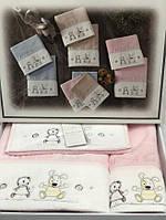 Набор детских полотенец Maison D'or Lamite Pink махровые 30-50 см,50-100 см,70-130 см розовые