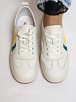 Nadi Bella. Жіночі кеди-білі кросівки. Натуральна шкіра. Розмір 36.37.38.40 Vellena, фото 7