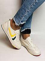 Nadi Bella. Жіночі кеди-білі кросівки. Натуральна шкіра. Розмір 36.37.38.40 Vellena, фото 3