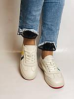 Nadi Bella. Жіночі кеди-білі кросівки. Натуральна шкіра. Розмір 36.37.38.40 Vellena, фото 9