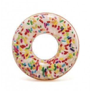 """Детский надувной круг для купания, """"Пончик с присыпкой"""" (114 см), Intex"""