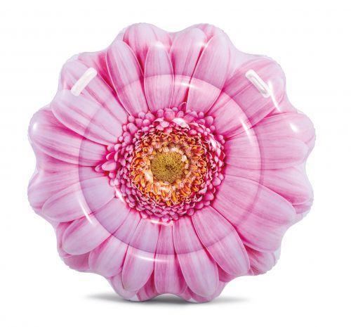 """Надувной матрас для плавания, от 6 лет, 142см, """"Розовый цветок"""", Intex"""