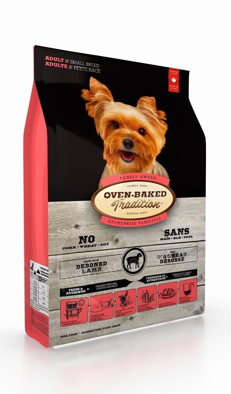 Сухий корм для дорослих собак малих порід з ягням Oven-Baked Tradition Adult Small Breeds Lamb