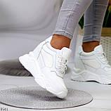 Сникерсы / кроссовки  женские белые эко кожа+ текстиль, фото 2