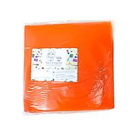 Чехол на кушетку 0,8*2,1м  (универ.на резинке)1шт в уп.оранжевый стачной Пани Млада*