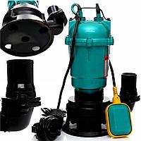 Погружной насос дренажно-фекальный с измельчителем 1,1 кВт для грязной воды, фекалий, сливных ям WQD 10-10