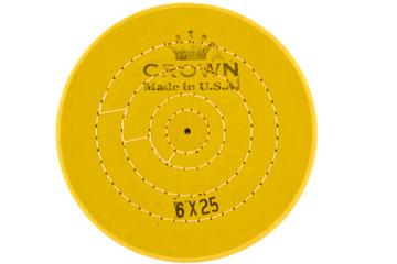 Круг муслиновый CROWN желтый d-150 мм, 25 слоев