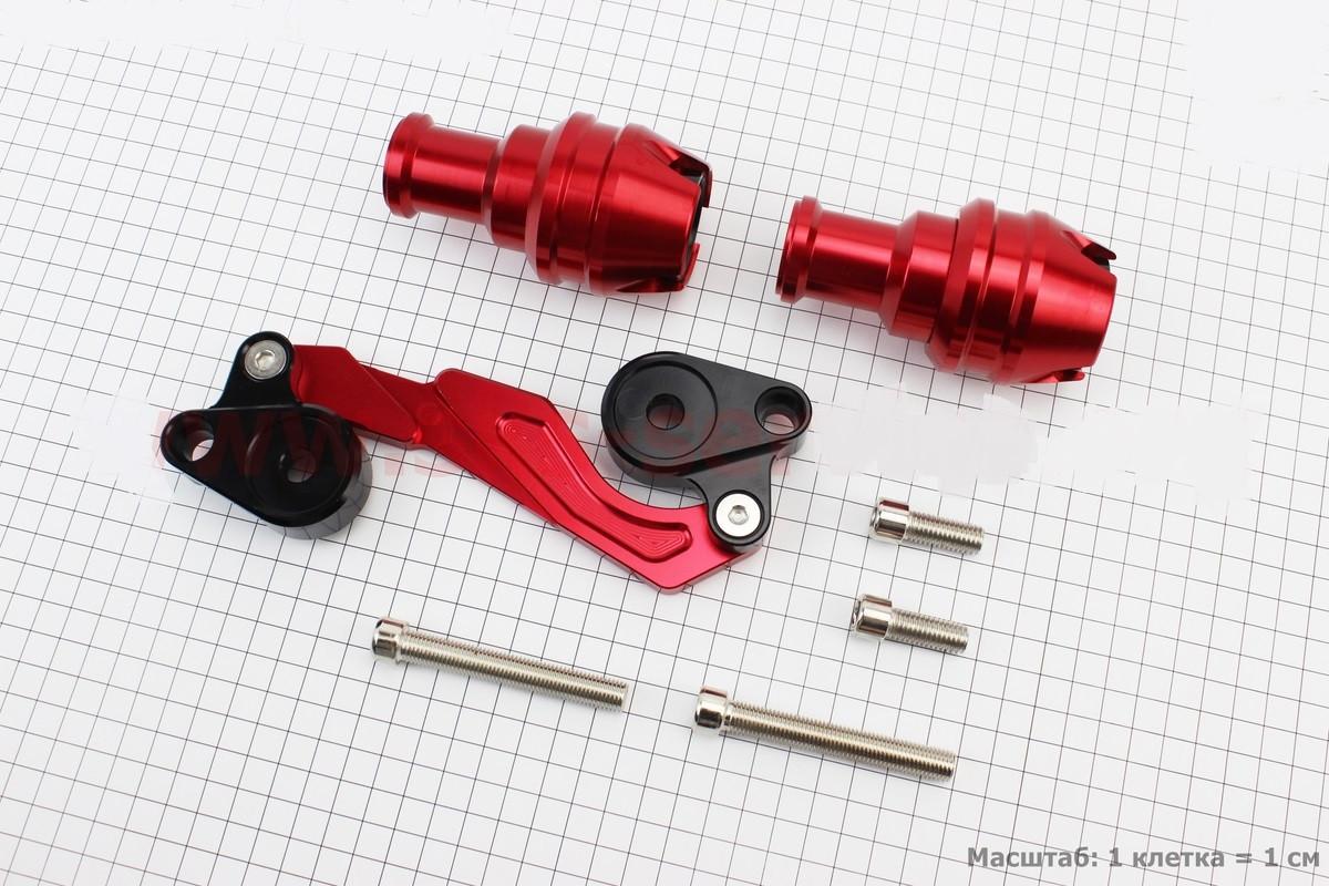 Крашпеди-слайдери (відбійники) універсальні, зі зміщеним кріпленням, ЧЕРВОНИЙ к-кт 2шт