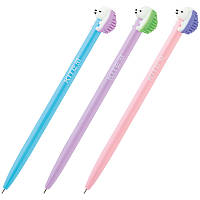 Ручка шариковая автоматическая Kite Color Hedgehog K20-030-03, синяя