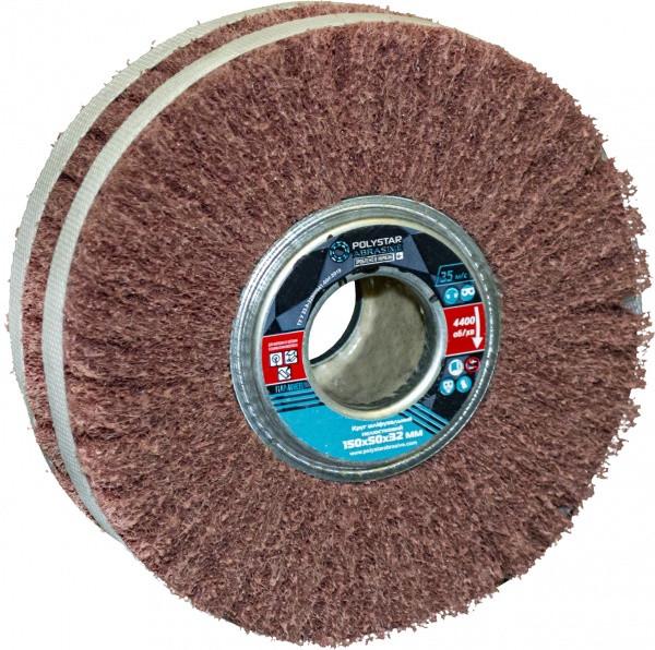 Скотч-брайт круг шліфувальний пелюстковий КШЛ 150х50х32 мм, P80