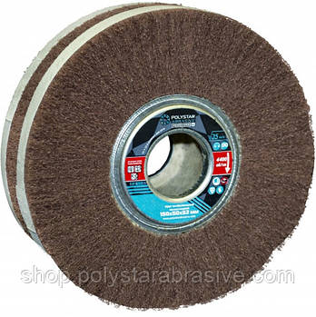 Скотч-брайт круг шлифовальный лепестковый КШЛ 150х50х32 мм, P180