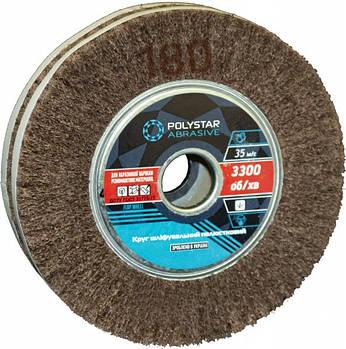 Скотч-брайт круг шлифовальный лепестковый КШЛ 200х50х32 мм, P180