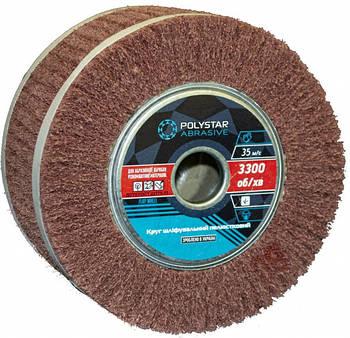 Скотч-брайт круг шлифовальный лепестковый КШЛ 200х100х32 мм, P60