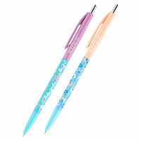 Ручка шариковая автоматическая Kite Flowers K20-361-2, синяя