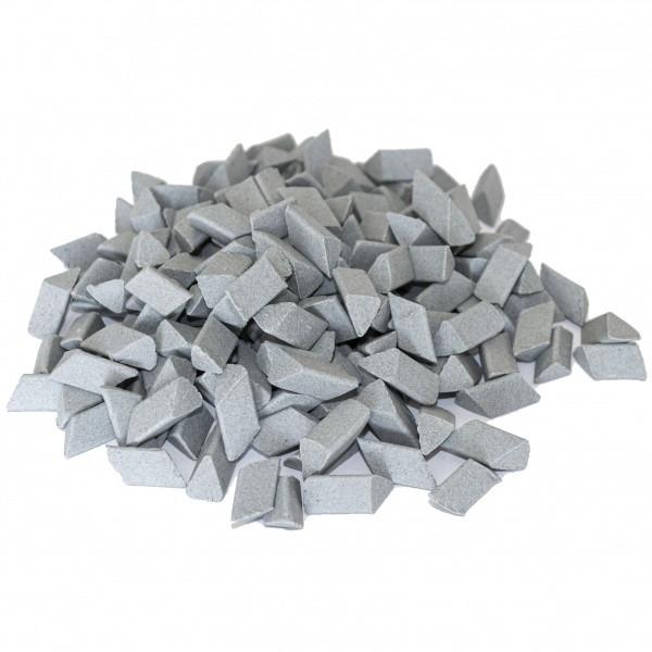 Галтовочные тела (наполнитель для галтовки) ерамический скошенный треугольник №14 10х15 мм
