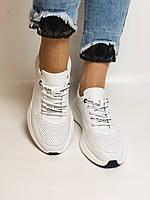 Evromoda.Женские белые кеды- кроссовки. Натуральная кожа. Размер 36,38,39.40, фото 3