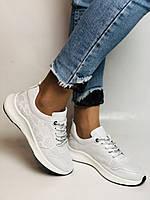 Evromoda.Женские белые кеды- кроссовки. Натуральная кожа. Размер 36,38,39.40, фото 7