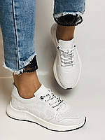 Evromoda.Женские белые кеды- кроссовки. Натуральная кожа. Размер 36,38,39.40, фото 4