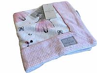 Детское полотенце Maison D'or Pinkie Princess махровое  75-100 см белое