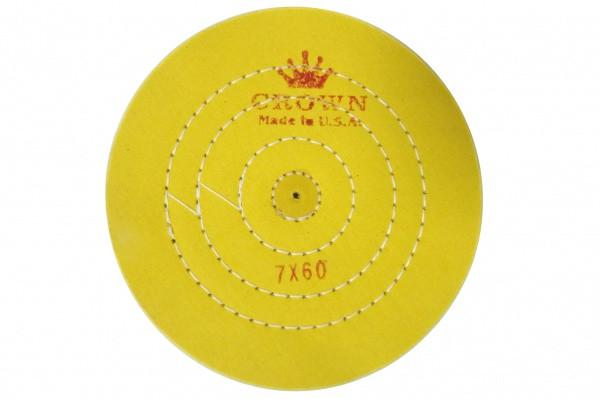 Круг муслиновый CROWN желтый d-175 мм, 60 слоёв