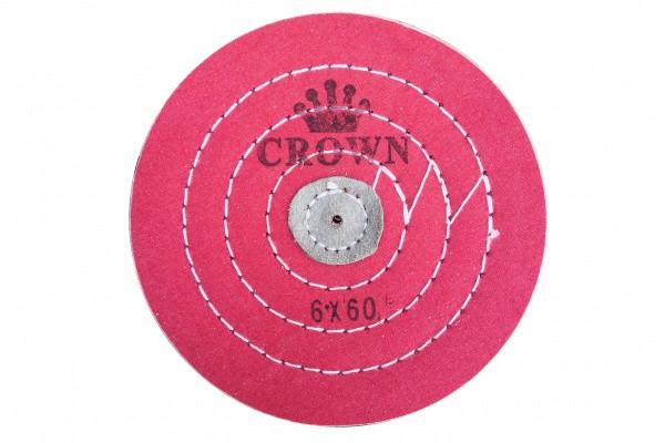 Круг муслиновый CROWN розовый d-150 мм, 60 слоёв