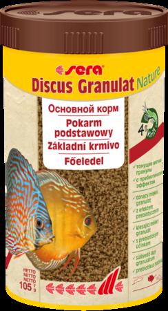 Сухой корм для аквариумных рыб, дискус в гранулах сера sera Discus Granulat Nature 105г 250мл