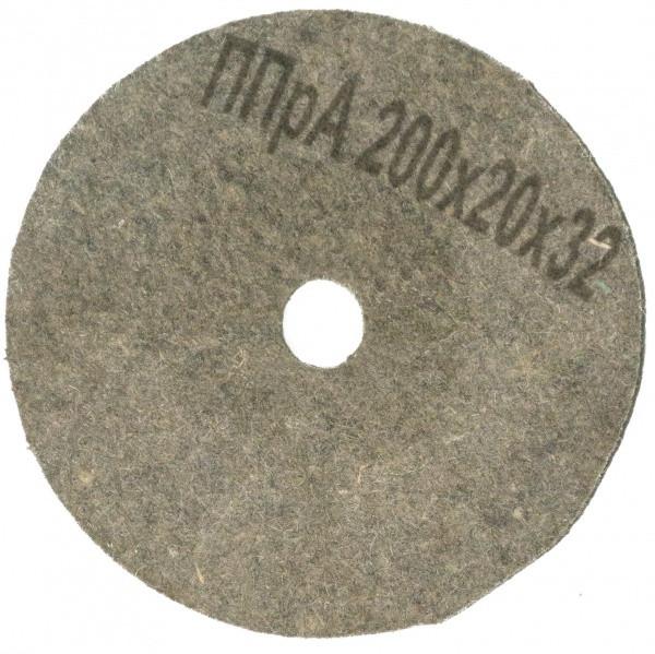 Круг полірувальний повстяний Polystar Abrasive ППР 200х20х32