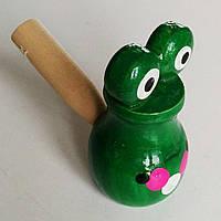 """Свистулька """"жабка"""" , дерево ., фото 1"""