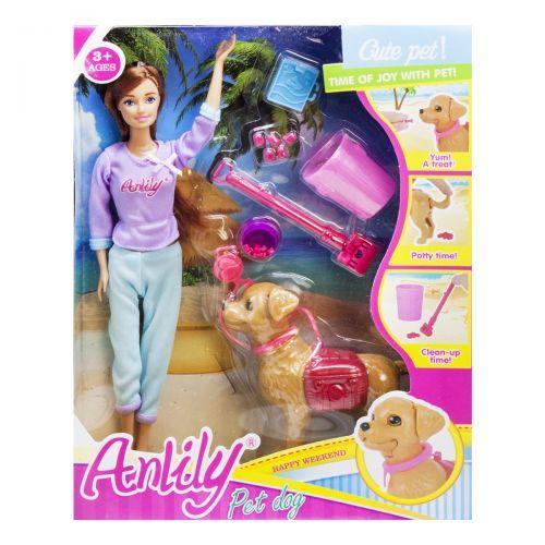 """Кукла с собакой """"Anlily"""" (брюнетка) LH201530"""