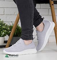 Кросівки жіночі сірі сітка 37р, фото 3
