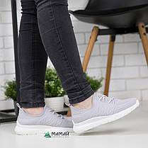 Кросівки жіночі сірі сітка 37р, фото 2