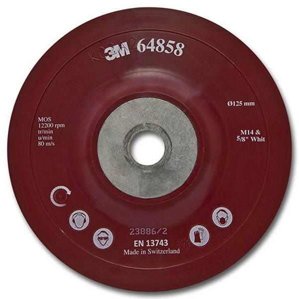 Оправка гладка, червона 3M d-125 мм +M14