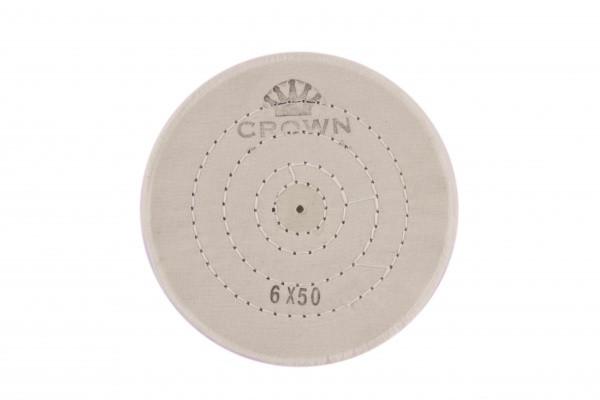 Коло муслиновый CROWN білий d-150 мм, 50 шарів