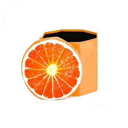 """Корзина-пуфик для игрушек """"Апельсин"""" 3D-1706"""