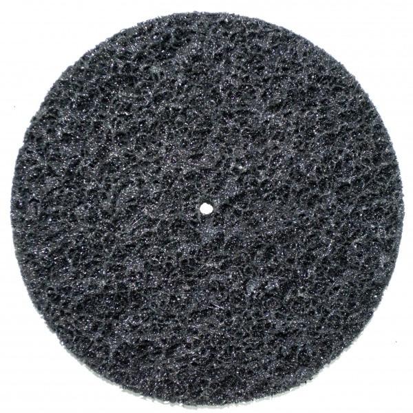 Круг зачисний без основи чорний (корал) м'який Polystar Abrasive d-150 мм