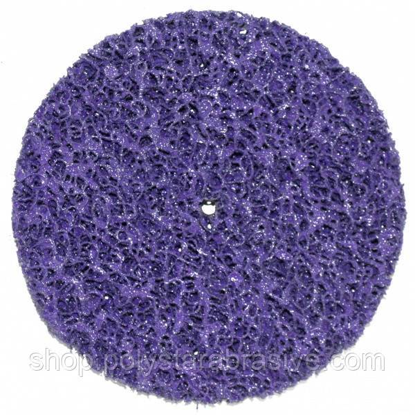 Круг зачистной без основы фиолетовый (корал) жесткий Polystar Abrasive d-150 мм