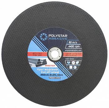 Круг отрезной по металлу Polystar Abrasive 350 3,0 25,4