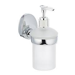 Дозатор для моющего средства на стену ZERIX LR3327 LL1450 хром 200мл стекло 81676