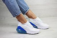 Кроссовки женские демисезонные в стиле Nike Air Max Белые с синим