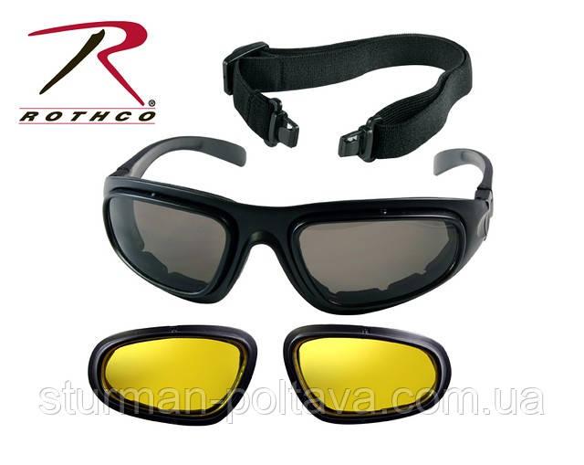 Тактичні окуляри з заміною лінз на жовтий колір TRANSTEC TACTICAL OPTICAL SYSTEM